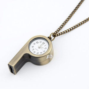 Jewelry - Clock & Whistle Design Necklace